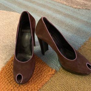 CASADEI Italian Peep Toe Heel Sz 5.5